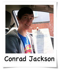 Conrad passed with Drive Ahead Driving School