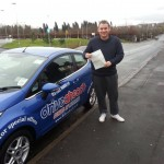 Mark passed his test in Stoke