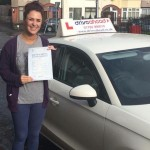 Zara passed with our driving instructor Dave