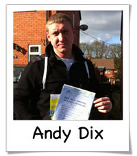 Andy Passed with Drive Ahead