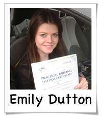 Emily passed her driving test with Drive Ahead
