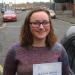 Lizzie had driving lessons in Stoke on Trent